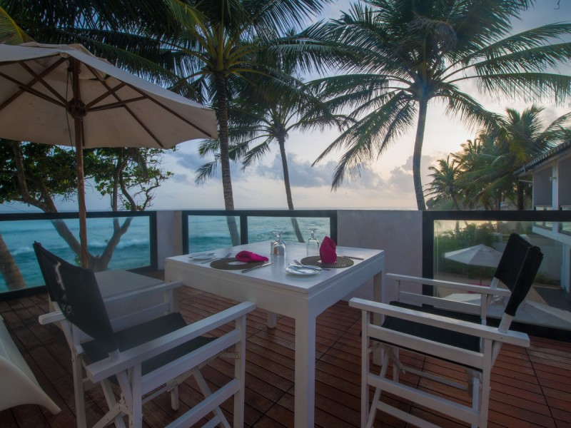 Dining Viewing The Beach At Cantaloupe Aqua Galle