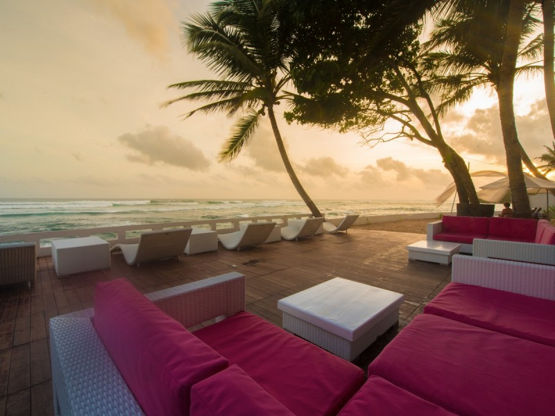 Relax In The Outdoor Of Cantaloupe Aqua Galle Viewing The Beach